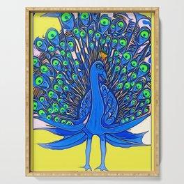Peacock Art Jen Serving Tray