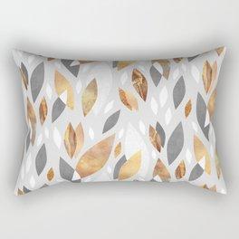 Falling Gold Leaves Rectangular Pillow