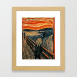 The Scream by Edvard Munch Framed Art Print