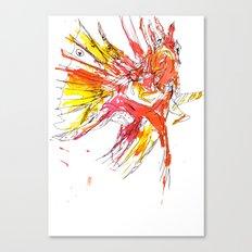 Ink Lionfish Canvas Print