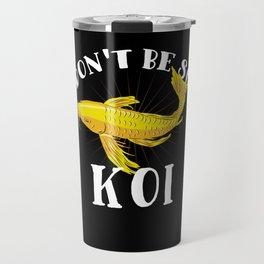 Japanese Koi Fish T-Shirt nishikigoi carp Travel Mug
