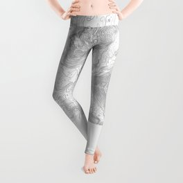 NORTH BEND WA TOPO MAP - LIGHT Leggings