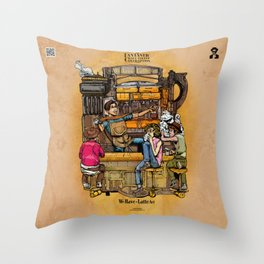 The Fantastic Craft Coffee Contraption Suite - We Have A Latte Art! Throw Pillow