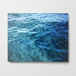 The Ocean's Surface Metal Print