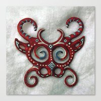 mask Canvas Prints featuring Mask by Abundance