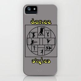 Dance Styles iPhone Case