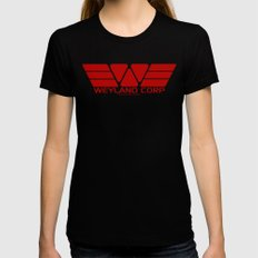 Weyland-Yutani Corp SMALL Womens Fitted Tee Black