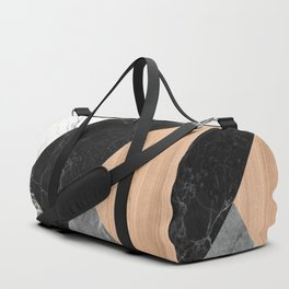 Marble and Wood Abstract Duffle Bag