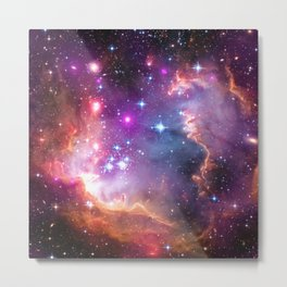 Angelic Galaxy Metal Print