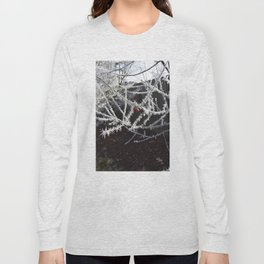 Frost Spiked Crabapple Tree Long Sleeve T-shirt