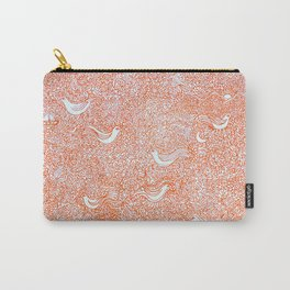 Orange Ornate Carry-All Pouch