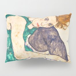 """Egon Schiele """"Seated Woman with Legs Drawn Up"""" Pillow Sham"""