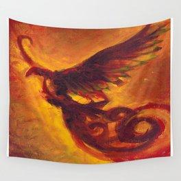 Phoenix Dark  Wall Tapestry