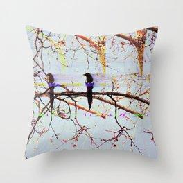Multi Magpie Throw Pillow