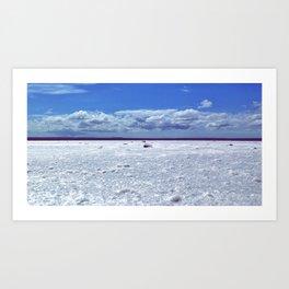 Salty horizon Art Print