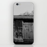 college iPhone & iPod Skins featuring College Lean2 by Luke Watson