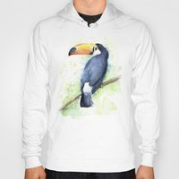 toucan Hoodies featuring Toucan by Olechka