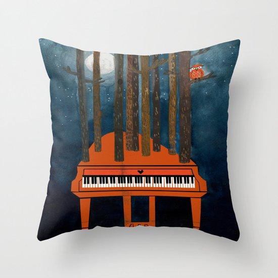 Moonlight Sonata - Beethoven Throw Pillow