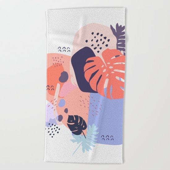 Concrete jungle Beach Towel