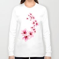 cherry blossom Long Sleeve T-shirts featuring Cherry Blossom  by Folksfield