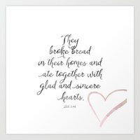 scripture Art Prints featuring Scripture by Meredith Washburn