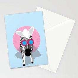 Zebra - Normal is Boring  Stationery Cards