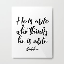 Buddha Quote, Motivational poster, Inspirational Quote Metal Print