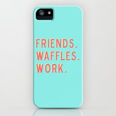 PARKS AND REC FRIENDS WAFFLES WORK iPhone (5, 5s) Slim Case