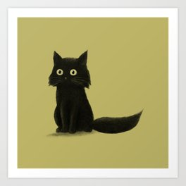 Sitting Cat Art Print