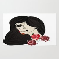 gypsy Area & Throw Rugs featuring gypsy by Zombie Doll  Clothing & Art