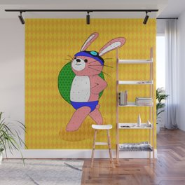 Let's Go To A Pool (bunny) Wall Mural