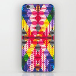 Rainbow Argyle iPhone Skin