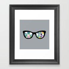Abstract Eyes Framed Art Print