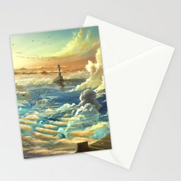 on shore of the sky Stationery Cards