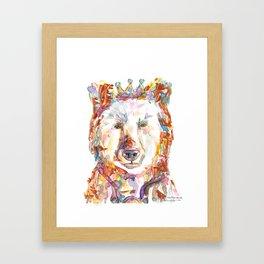Princess Bear Framed Art Print