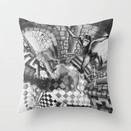 Labyrinth Chase Throw Pillow