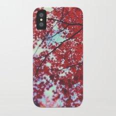Autumn Red 2 iPhone X Slim Case