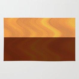 Copper-Bronze and Gold Design Rug