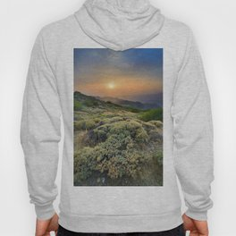 Summer Sunset At The Mountains Hoody