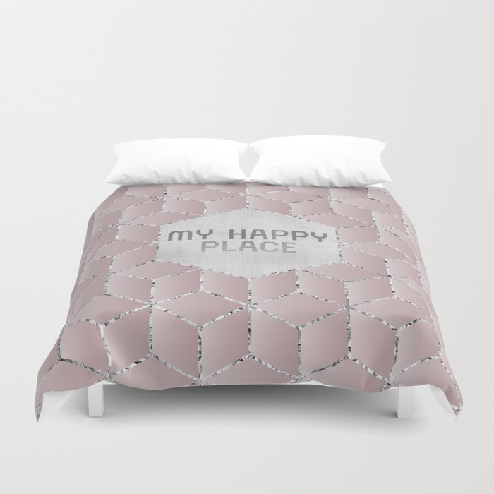 GRAPHIC ART My happy place Duvet Cover