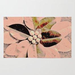 Pastel Pink Flower Rug