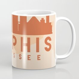 MEMPHIS TENNESSEE CITY MAP SKYLINE EARTH TONES Coffee Mug