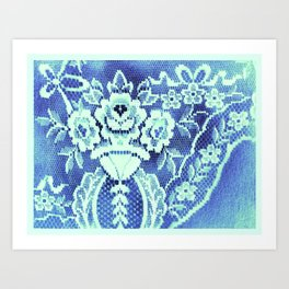 Somethings Laced Blue.  Art Print