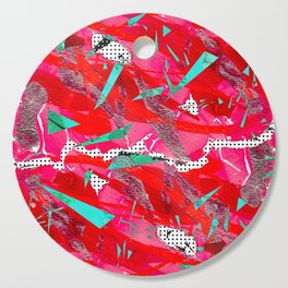 Groovy Red & Pink Cutting Board