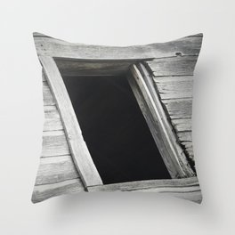 Window in Abandoned Barn 1 Throw Pillow