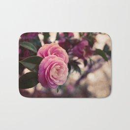 Pink camellia Bath Mat