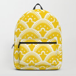 Fan Pattern Yellow 201 Backpack
