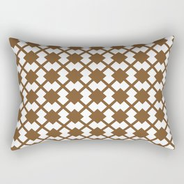 Chocolate Brown:  Pattern No. 1 Rectangular Pillow