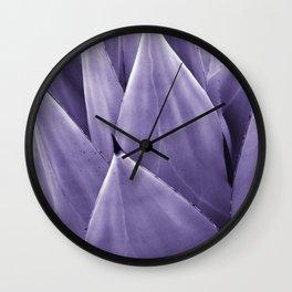 Ultra Violet Agave Vibes #4 #tropical #decor #art #society6 Wall Clock
