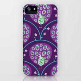 Purple Peacock iPhone Case